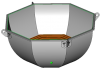 Банный чан 8х6 (нерж. с ушками) маленькая
