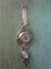 Бронзовые часы настенные с гигрометром Virtus 1945 маленькая