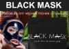 Черная маска для лица маленькая