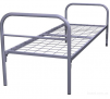 Двухъярусные железные кровати, для казарм, металлические кровати с ДСП спинками, кровати для бытовок, кровати оптом, От производителя маленькая