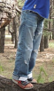 Джинсовые брюки маленькая