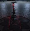 LED Лазерный задний фонарь на велосипед маленькая
