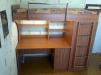 Мебель-кровать б/у двухэтажная детско-подростковая (одно спальное место) маленькая