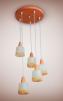 Новая люстра  Спрут Пауль (5 ламп) маленькая