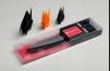 Нож керамический кухонный Сантоку 145 мм, черная циркониевая керамика,(Черный) Samura FUSION SF-0023B маленькая
