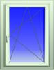 Пластиковое окно маленькая