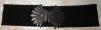 Пояс чёрный женский прорезиненный маленькая