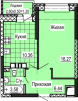Продается 1 комнатная квартира в новостройке маленькая
