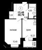Продажа квартиры д. Лунево, Новая, 33, 39 кв.м маленькая