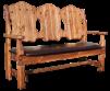 Скамейка состаренная Добряк маленькая