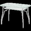 """Стол обеденный стеклянный """"Лилия - 2"""" рис. № 6 (прямоугольный) металлик маленькая"""