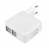 СЗУ на 4 USB-(2 USB-1,200 mАh ,2 USB- 2,100 mАh) белое маленькая