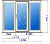 Трехстворчатое окно в домах 121 серии маленькая