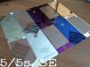 Цветные защитные стекла для iPhone 5/5s/SE/6/6s/6 Plus/6s Plus маленькая