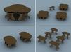 Уникальные модульные столы маленькая