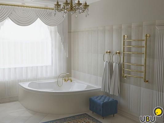 Фото интерьер ванной комнаты в коттедже
