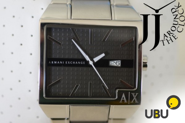 Продам часы Armani Exchange Mens Silver Steel IP Black Dial Analog AX2003 фото 1
