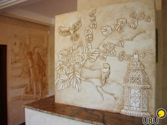 Материал для барельефа на стене своими руками