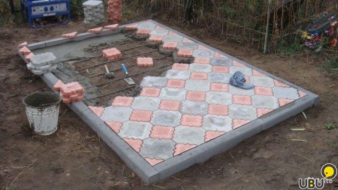 Укладка плитки на кладбище своими руками 69