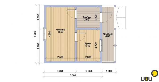 Дом 10 на 5 метров своими руками