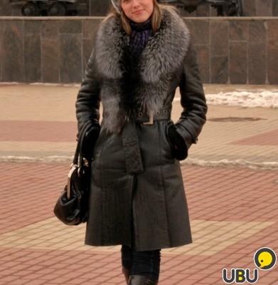 Пальто с воротником чернобурки тюмень
