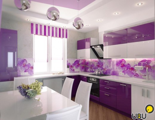 Italian colorful mosaic idea for modern kitchen