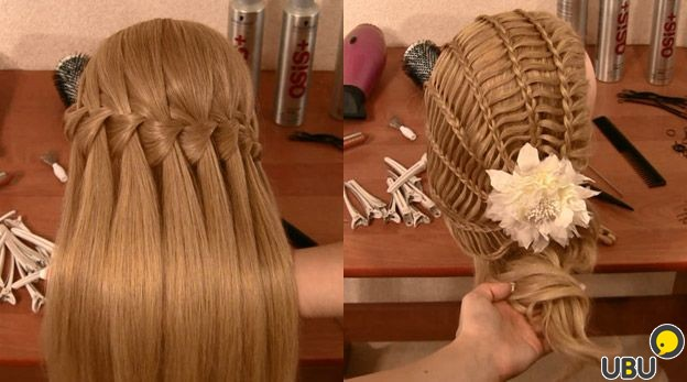 прически и косоплетение макроме из волос фото