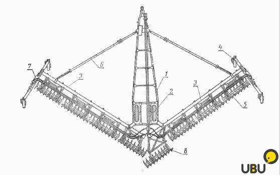 Схема лущильника лдг-10
