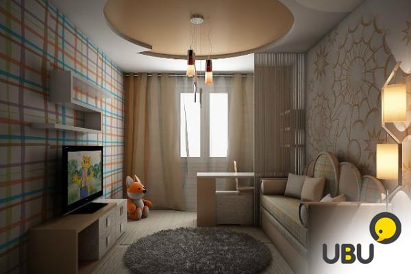 Интерьер комнаты 2 на 4