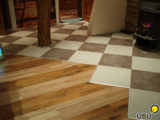 Hardwood floor ceramic tile