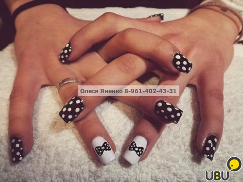 Дизайн нарощенных квадратных ногтей фото