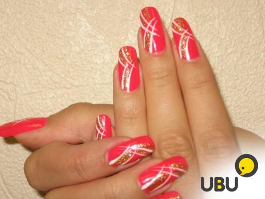Образец рисунков гелевых ногтей