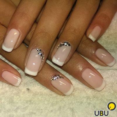 Шеллак дизайн ногтей френч