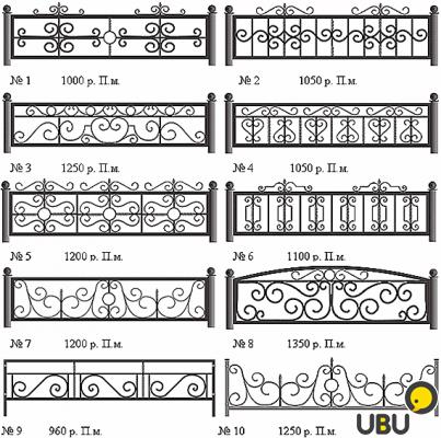 Узоры для ограды своими руками 26