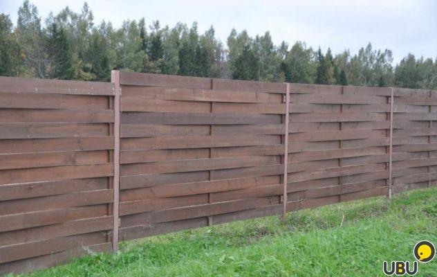 Плетеный забор  из досок фото