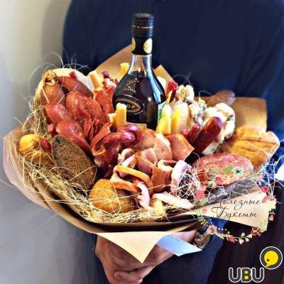 Букет из еды как сделать