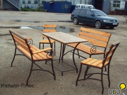 Садовая мебель из металла фото