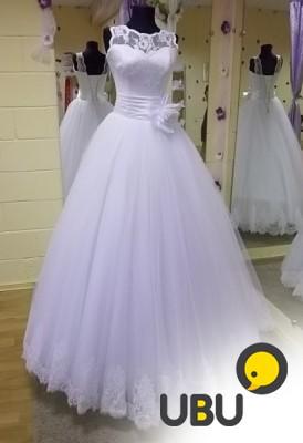 Пышное свадебное платье белоснежного цвета в Самарской области