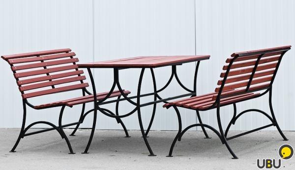 Скамейки и столы из профильной трубы с размерами