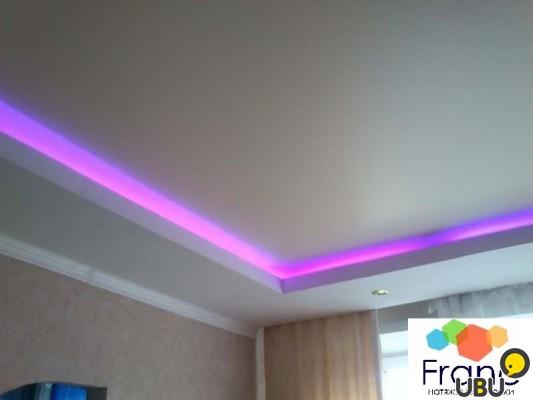 Двухуровневые комбинированные потолки с подсветкой своими руками