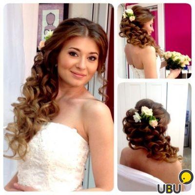 Свадебная прическа с макияжем выезд