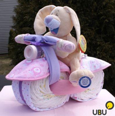 Велосипед из памперсов своими руками фото пошагово