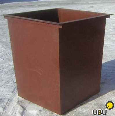 Бак для мусора металлический